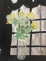 chris zhang work zoom yellow rose in moonlight