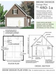 Garage Plan Garage Plans 2 Car Compact Steep Roof Garage Plan With Attic