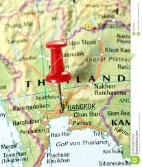 Bangkok Map Pin Set On Bangkok Stock Photo Image 69653058