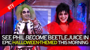 holly willoughby and phillip schofield transform into beetlejuice