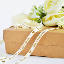 wedding ribbon personalised wedding ribbon the ribbon co