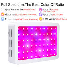 what color light do plants grow best in kingled 600w double chips led grow light full spectrum 410 730 nm