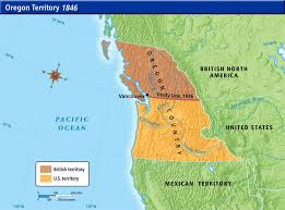 map of oregon country 1846 oregon treaty 1846 origins of the ideology of manifest destiny