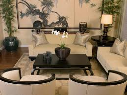 Although This Room Lacks Some Color I Like The Lines Of The Room - Asian living room design