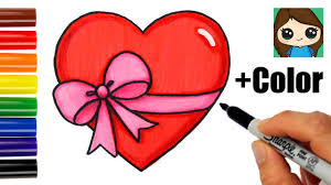 emoji ribbon how to draw a heart with a bow ribbon emoji easy