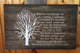 condolence gift sympathy gift beautiful memories wood sign or canvas wall