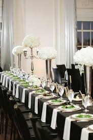 Black And White Centerpieces For Weddings by Black And White Wedding I Like The Pop Of Color On The