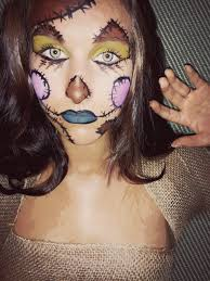 leopard halloween makeup ideas scarecrow makeup using mehron face paint and cut up potato sacks