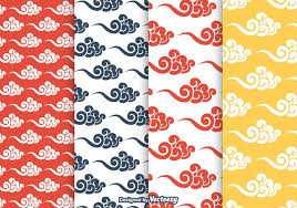 free chinese clouds vector pattern download free vector art