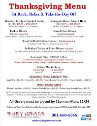 wegmans thanksgiving dinner menu south laurel views nov 27 ruby grace southern thanksgiving carry