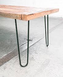 27 inch table legs 16 hairpin legs satin black industrial strength mid century