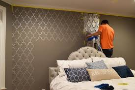 wall stencils for bedrooms bedroom makeover a stenciled touch of drama stencil stories