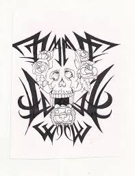 tribal skull with aztec jaguar by mon22king on deviantart