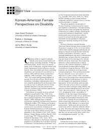 korean american female perspectives on disability american