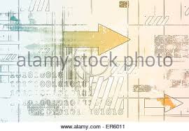 system engineering of software and hardware as art stock photo