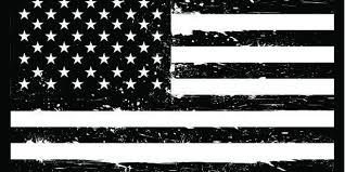 White American Flag American Flag Black And White Clipart