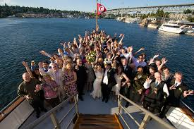 wedding on a boat astrid kyle s seattle boat wedding offbeat