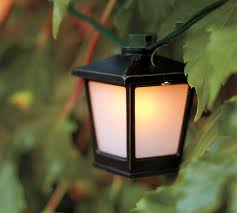 Outdoor Lantern String Lights by Malta Mini Lantern String Lights Pottery Barn