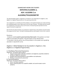 Factoring Trinomials Of The Form Ax2 Bx C Worksheet Answers Summer Math Work For Students Entering Algebra 2