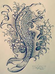terrific koi fish tattoo drawing photos pictures and sketches
