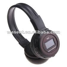 headband mp3 foldable headband mp3 player wireless headset with display wst n65