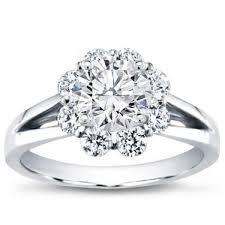 flower halo engagement ring flower halo engagement setting r2893
