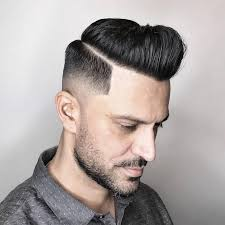 Pompadour Hairstyles For Men by Mid Fade Haircuts