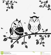 clipart owl black and white owl funny stock photography image 35566322