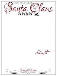 santa claus letters free printable letters from santa claus templates template idea