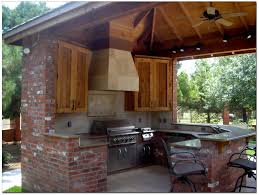 rustic outdoor kitchen ideas gripping rustic outdoor kitchen plans with travertine tile