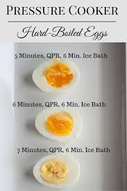 egg boiled pressure cooking boiled eggs