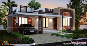 Kerala Home Plan Single Floor Designs Homes Design Single Story Flat Roof House Plans