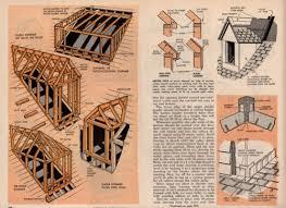 Dormer Building How To Build Frame Roof Dormers Plans Attics Attic Building