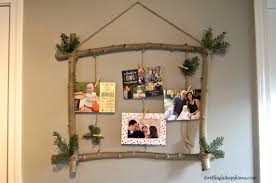 a simply rustic holiday card holder dwelling in happiness