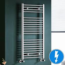 maine chrome straight electric towel rail radiator 10 ibathuk