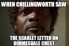 Sweet Jesus Meme Generator - meme maker when chillingworth saw the scarlet letter on