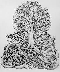 celtic oak tree yggdrasil and tree of