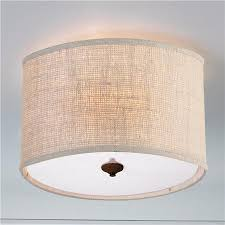 Drum Shade Ceiling Light Fixtures Burlap Drum Shade Ceiling Light 16x16x10 5 5 Canopy
