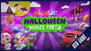 nick jr halloween house paw patrol shimmer and shine bubble