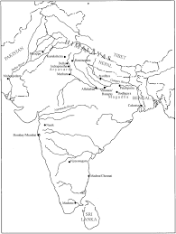 Pakistan Map Blank by Rivers Of India Map Outline Character Analysis Essay Outline