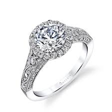 wedding rings vintage designer antique inspired halo engagement ring