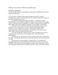 cover letter sample journal article submission example good resume