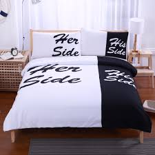 his and hers bed set beddingoutlet black white bedding set his and side home