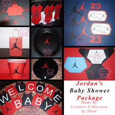 michael baby shower decorations jumpman inspired baby shower package michael