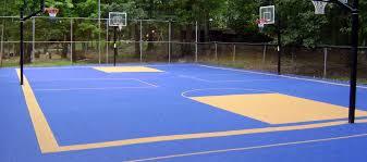 Building A Backyard Basketball Court Custom Basketball Courts With Basketball Court Flooring Mateflex