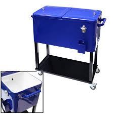 xtremepowerus 65 quart patio deck ice cooler outdoor beverage cart