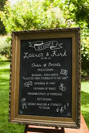 chalkboard program wedding caledon ontario canada garden wedding read more chalkboards