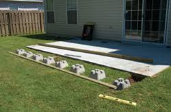 Laying Patio Slabs On Grass Diy Steps For Building A Deck Over A Patio Slab The Low Down On