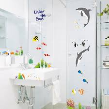 Wall Transfers For Bathroom 20 Creative Bathroom Wall Decals Home Design Lover