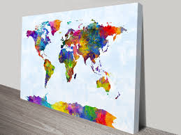 Vintage World Map Canvas by Vintage U0026 Modern Map Art Pictures On Canvas Print Australia